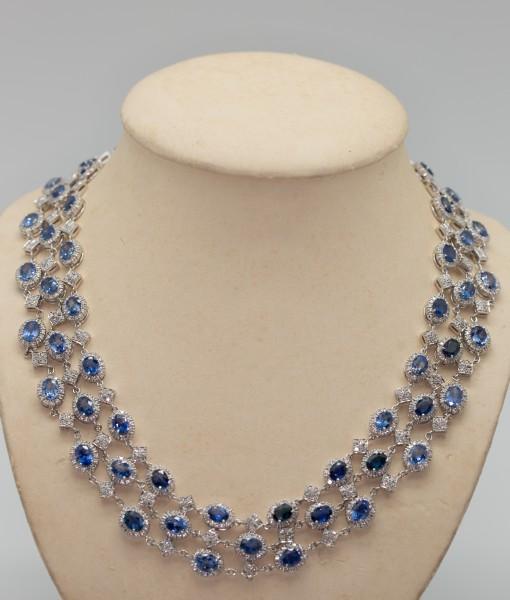 Blue Sapphire Custom Necklace