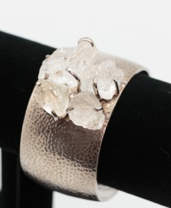 White Topaz Tumble Polished Cuff