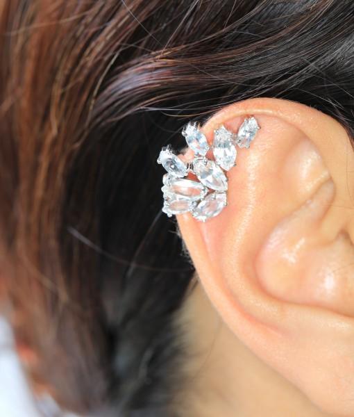 White Topaz Ear Cuffs