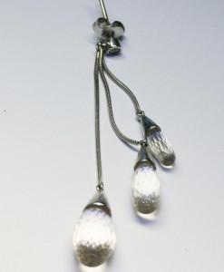 White Topaz Earrings