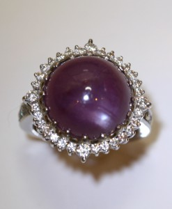 Pink Sapphire Caberchon Ring