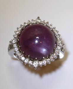 Pink Sapphire Caberchon Ring