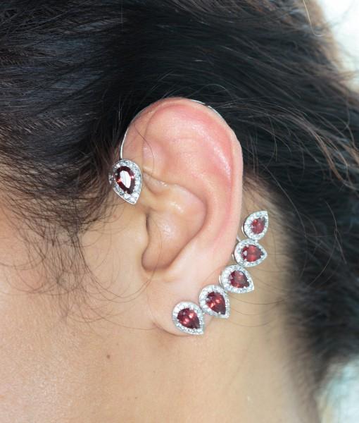 Garnet Ear Cuff(s)